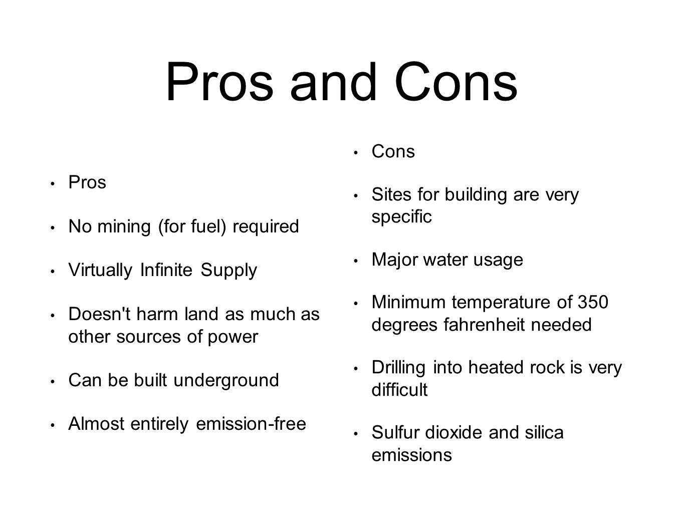 Geothermal energy: pros and cons. Geothermal energy sources 98