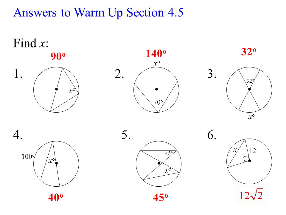 warm up section 4 5 find x xoxo xoxo 70 o 32 o xoxo xoxo 100 o x 12 Cobra Diagram 2 answers
