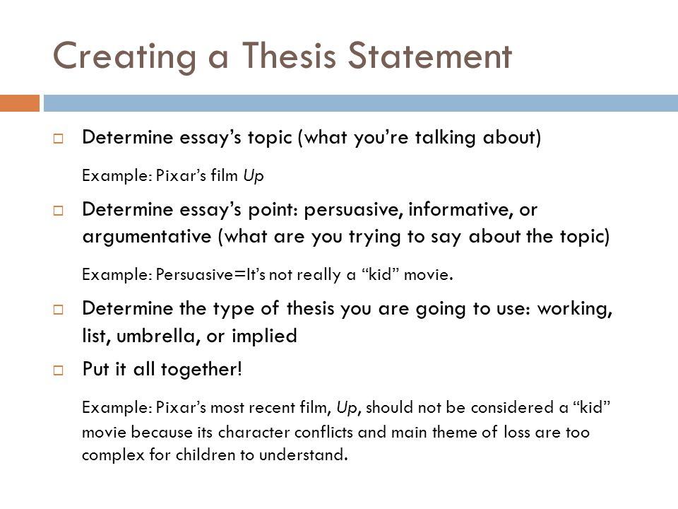 what does a thesis statement do