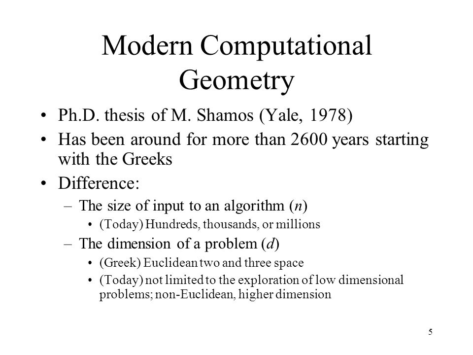 shamos computational geometry thesis