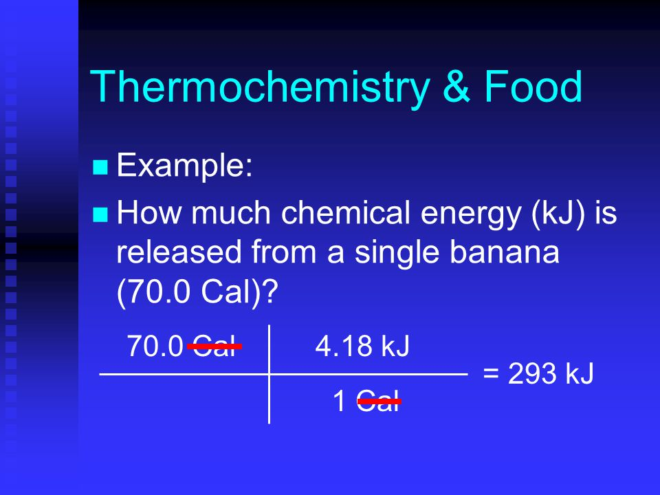 Thermochemistry Food Food Has A Stored Energy Content That Is