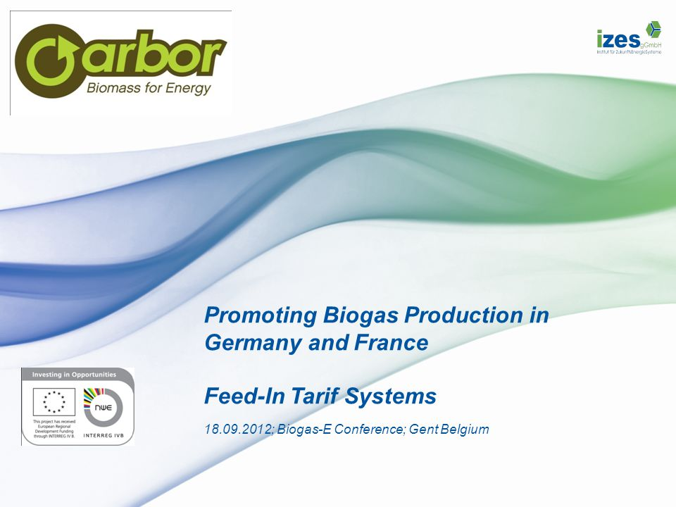 Promoting Biogas Production in Germany and France Feed-In