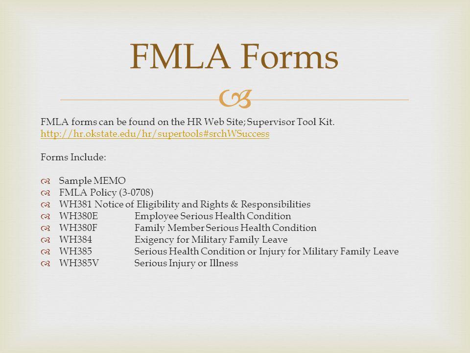 Family Medical Leave Act Family Medical Leave Act Fmlawas