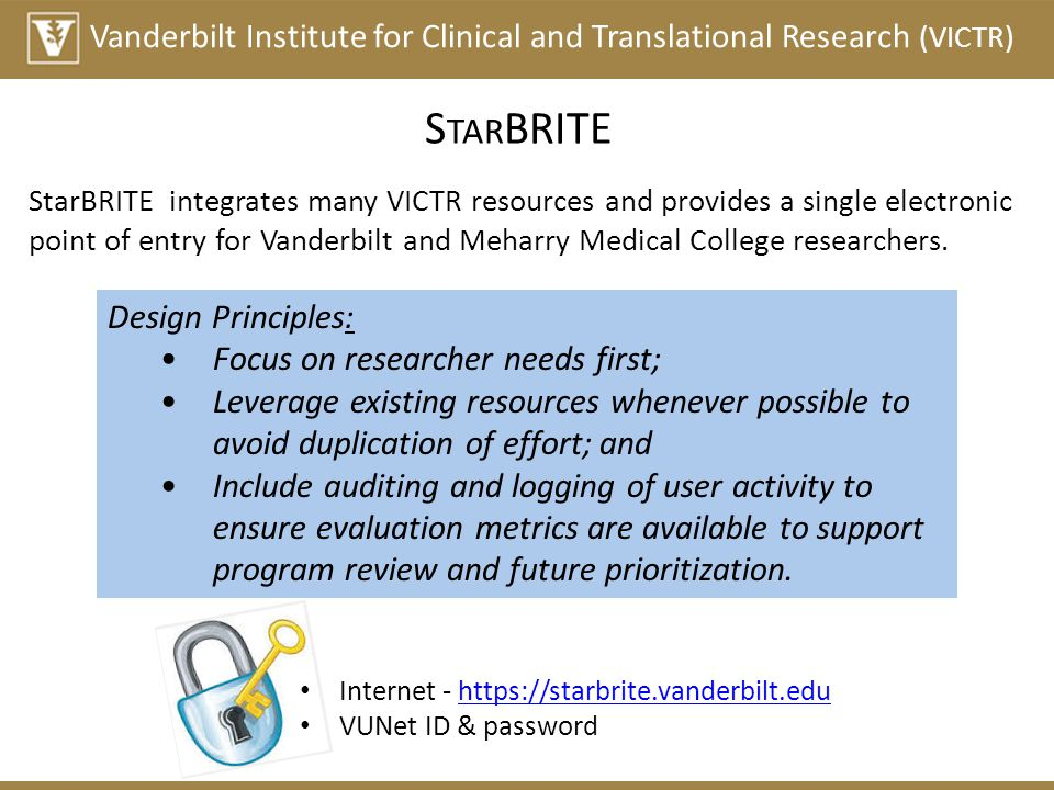 Vanderbilt Institute for Clinical and Translational Research (VICTR