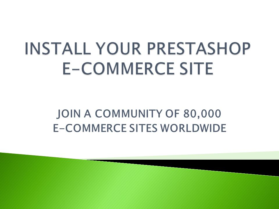 JOIN A COMMUNITY OF 80,000 E-COMMERCE SITES WORLDWIDE