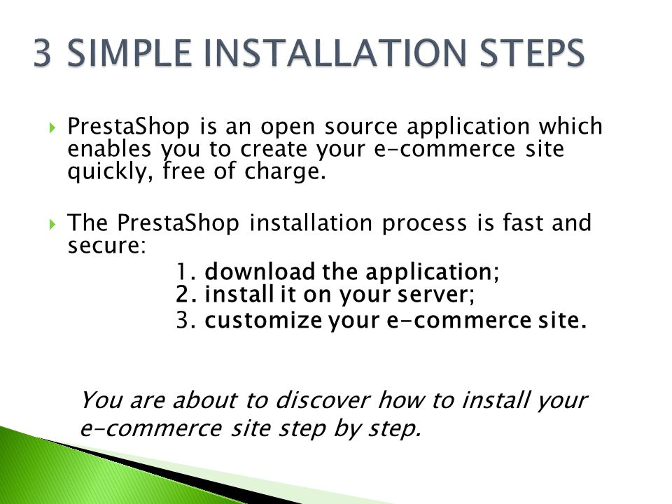  PrestaShop is an open source application which enables you to create your e-commerce site quickly, free of charge.