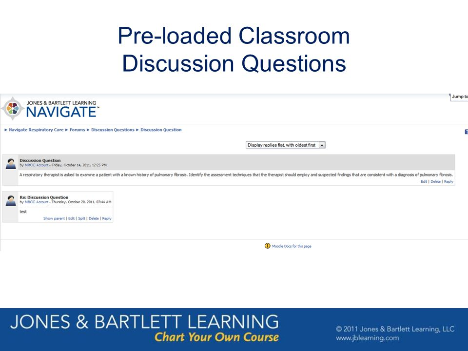 Pre-loaded Classroom Discussion Questions