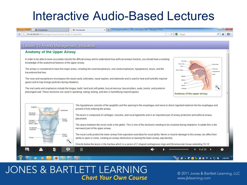 Interactive Audio-Based Lectures