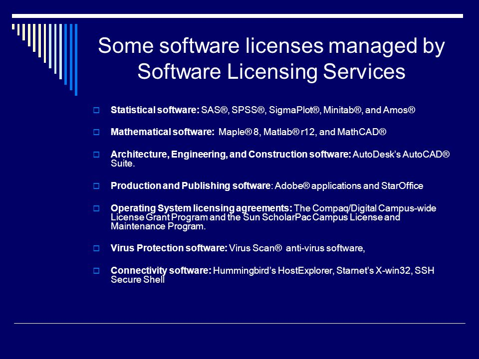 Software Licensing Services University of Florida  - ppt