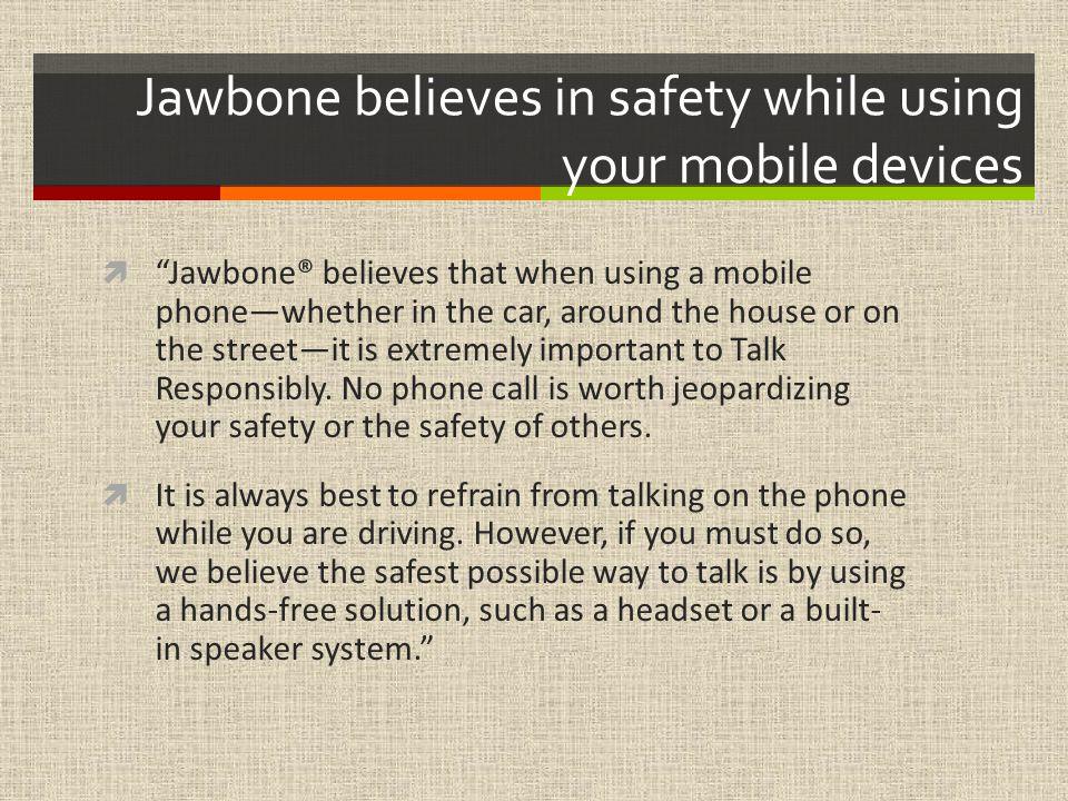 JAWBONE An Electronic Retailer: Jillian Rubin & Kathleen