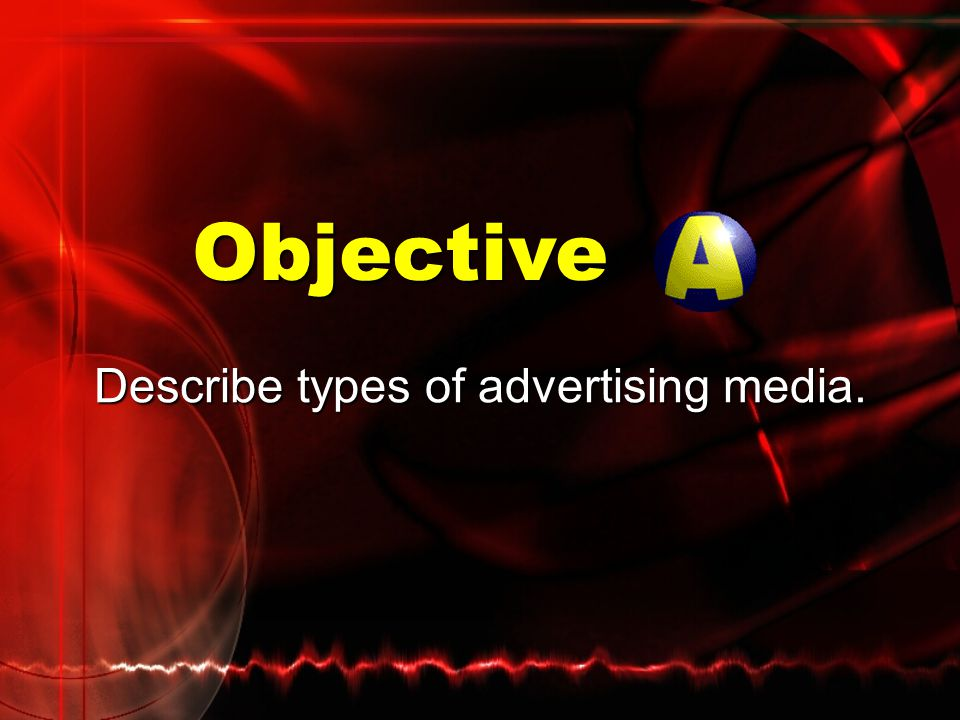 Objectives Describe types of advertising media. Discuss trends affecting advertising media.
