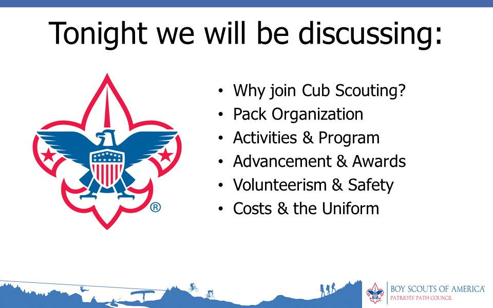 Why join Cub Scouting.