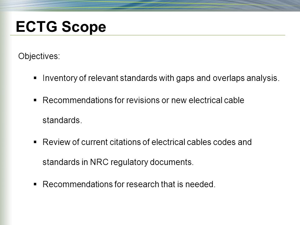 Electrical Cable Aging and Condition Monitoring Codes and Standards ...