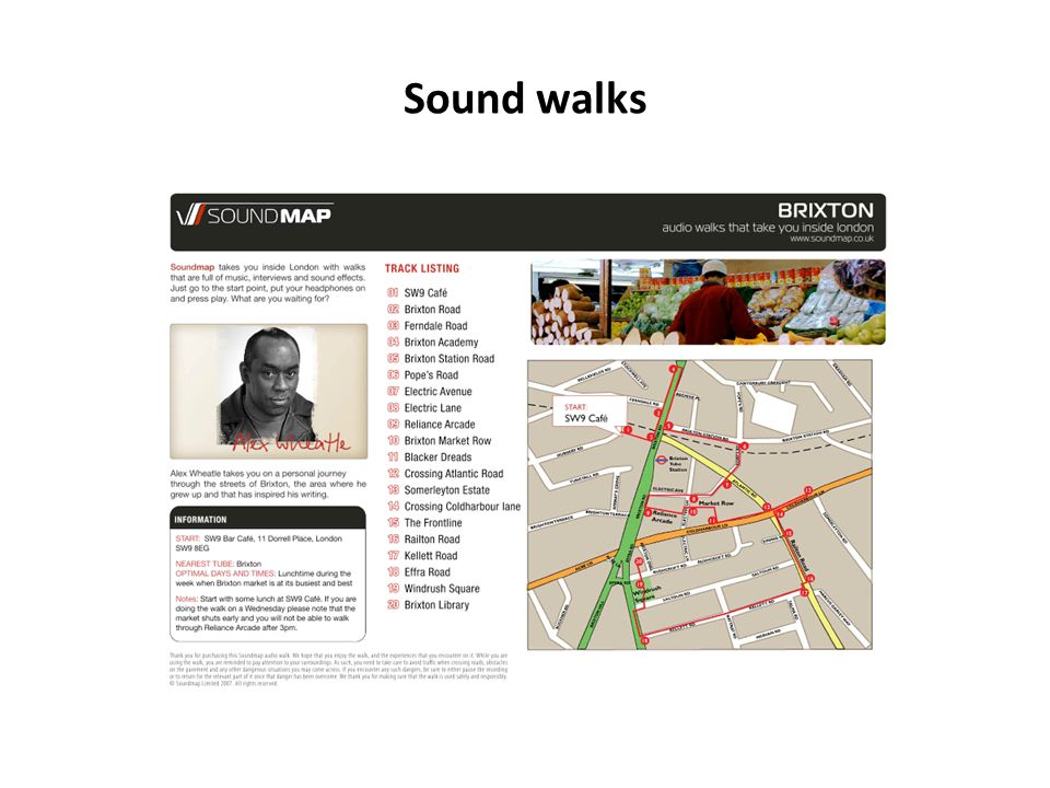 Mapping territories with sound Sound is used to convey