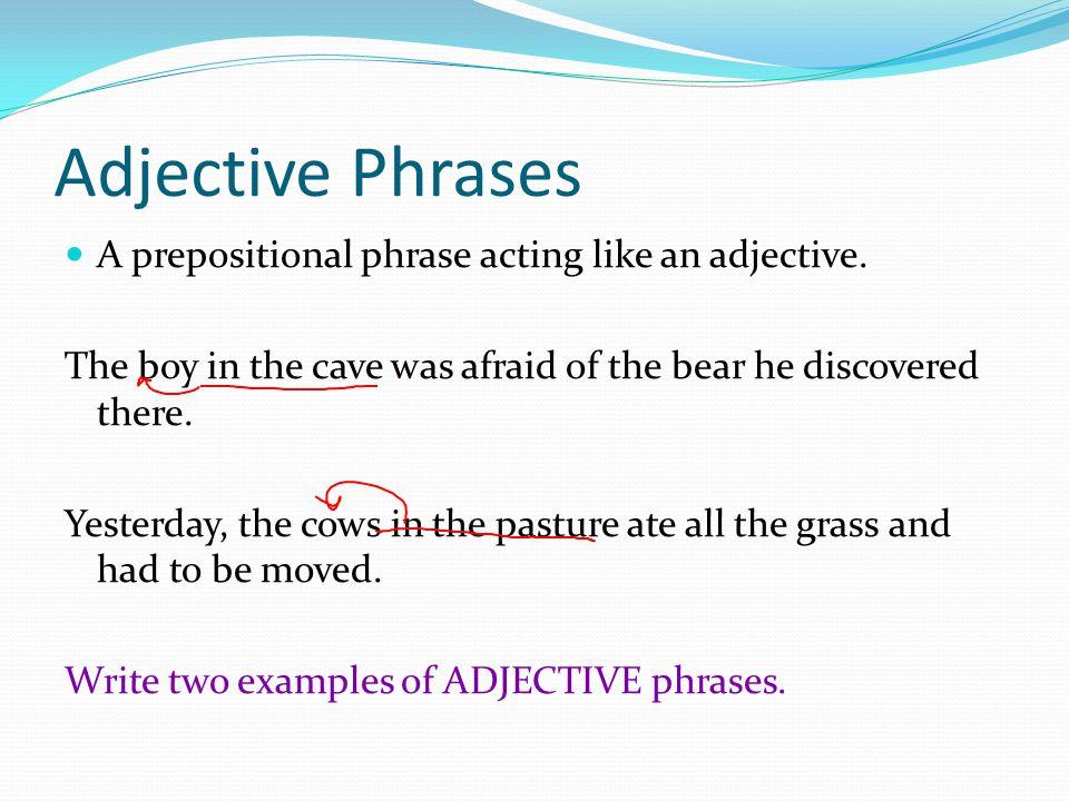 Descriptive Adjectives Describe a noun or pronoun  Can be
