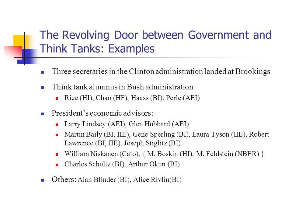 think tank examples