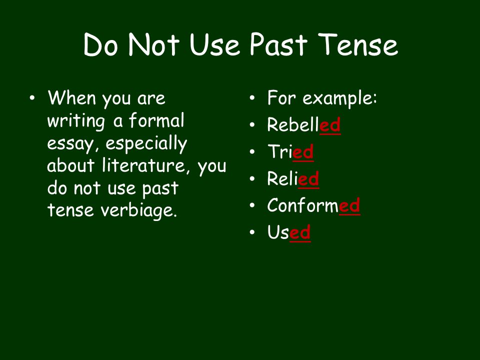 words to not use in essays
