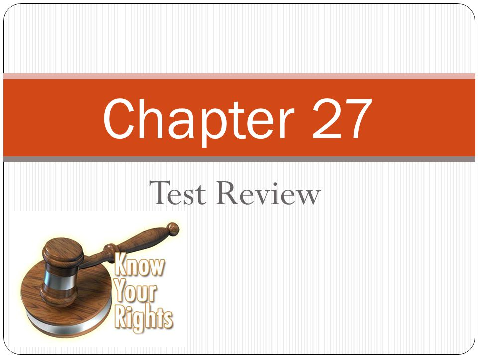 Test Review Chapter 27
