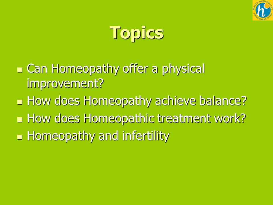 WHAW 2012 Homeopathy and Infertility Helping fertility for