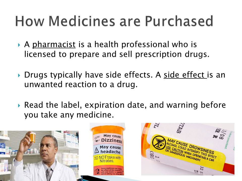  A pharmacist is a health professional who is licensed to prepare and sell prescription drugs.