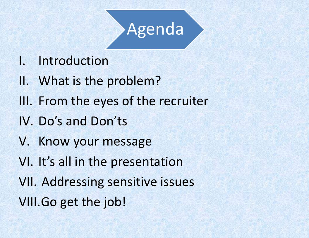 Agenda I.Introduction II.What is the problem.