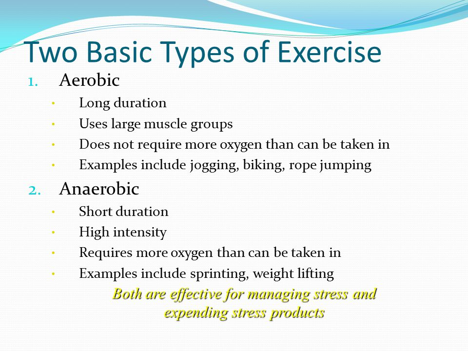 3 Two Basic Types of Exercise ...
