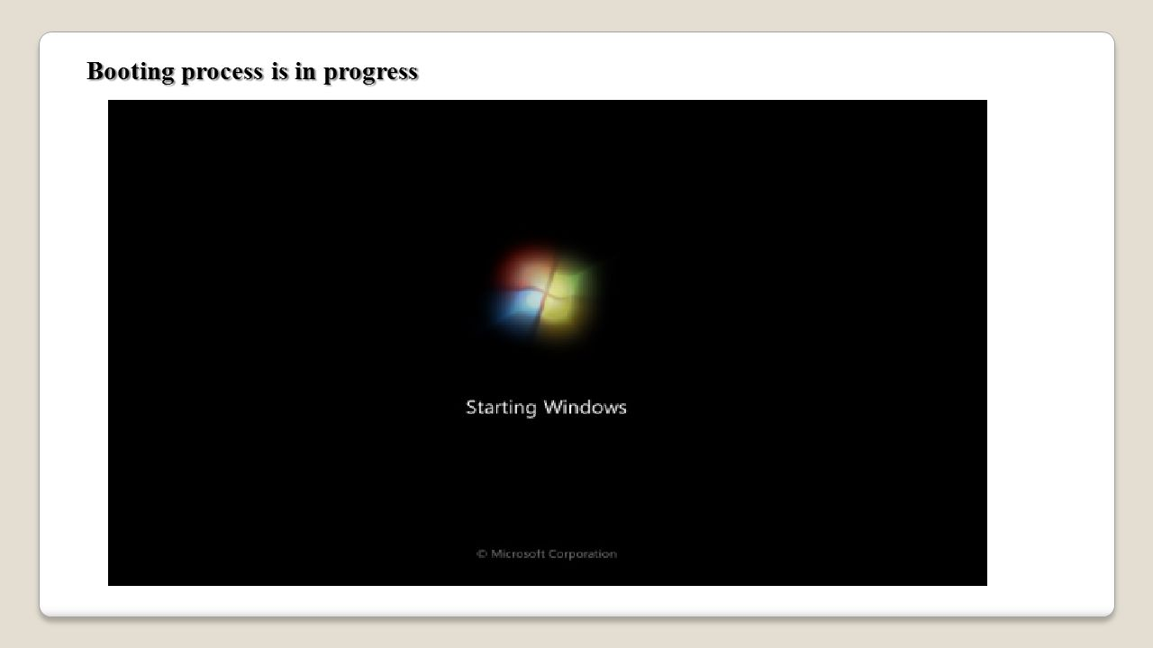 Booting process is in progress