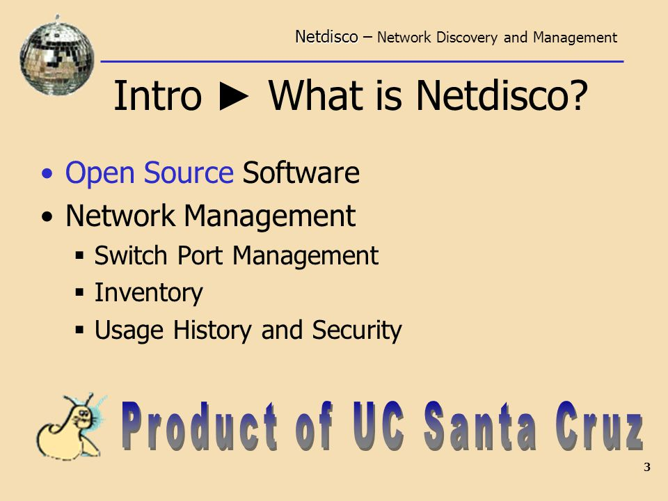 Netdisco Netdisco – Network Discovery and Management  - ppt download