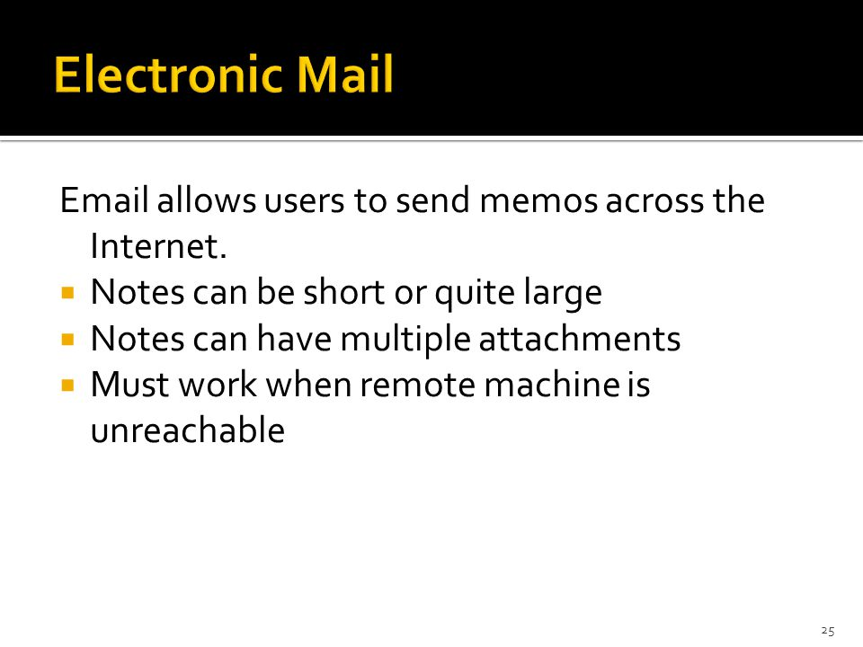 allows users to send memos across the Internet.