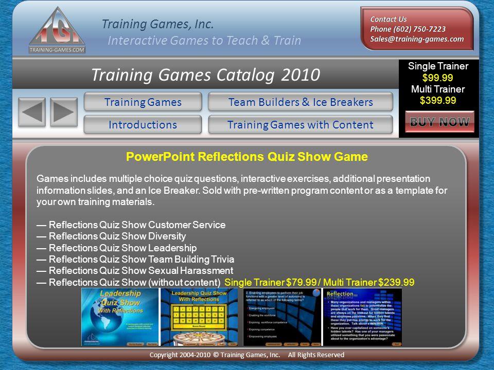 Training Games, Inc  Interactive Games to Teach & Train