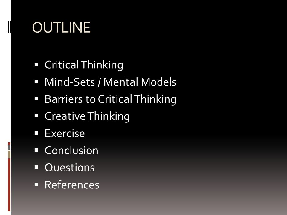 critical thinking course outline