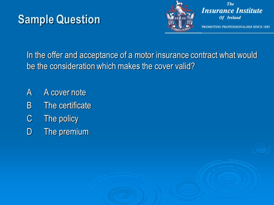 Sample Gen 1a Questions Insurance Operates By Paying The Claims Of