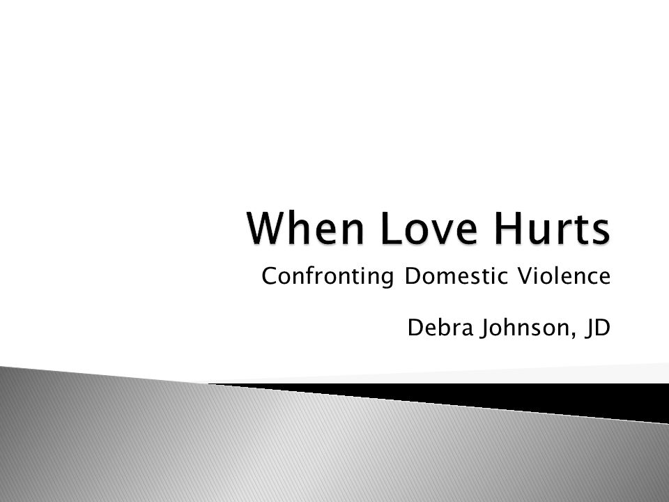 Confronting Domestic Violence Debra Johnson, JD
