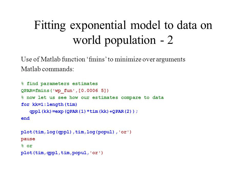 Computations for growth models  Plotting exponential growth