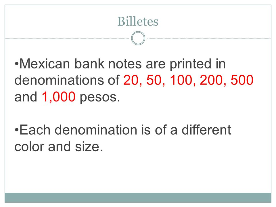 Peso Mexican Currency Ppt Download