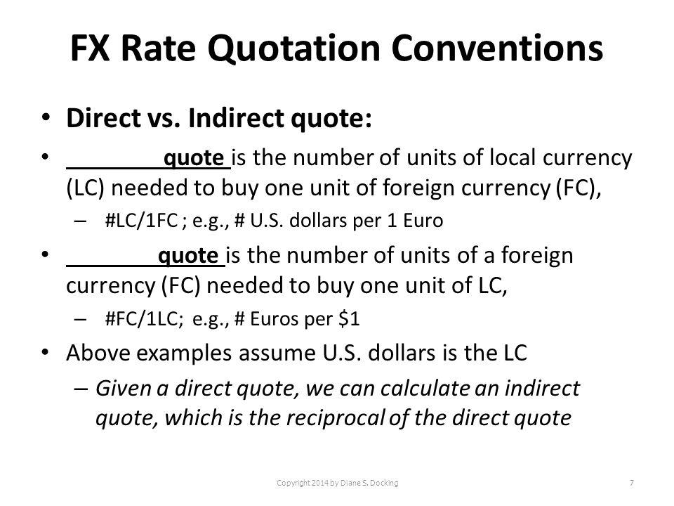 Direct vs indirect quote forex 5000 крон шведских в рублях