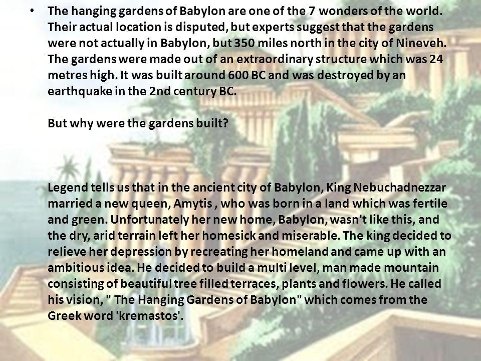 2 The Hanging Gardens Of Babylon Patatoukou Maria Tsoulfa Sophia Saroukou Anna Teacher In Charge Nikou Stamatia