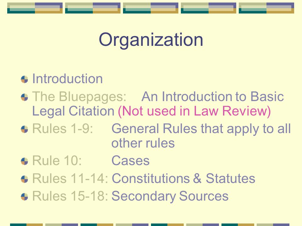 Bluebook For Law Journals Preliminary Points Look It Up Even If