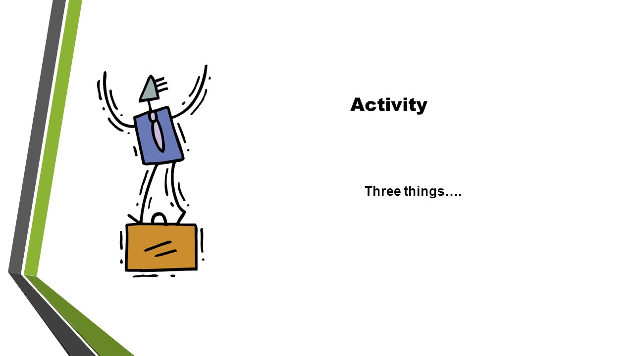 Activity Three things….