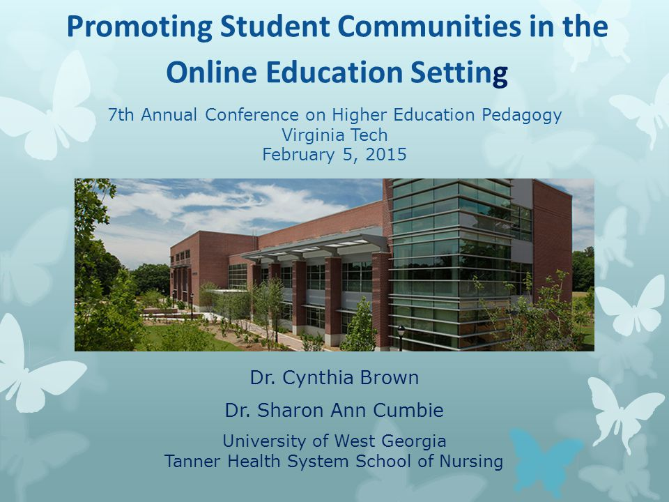 Promoting Student Communities in the Online Education