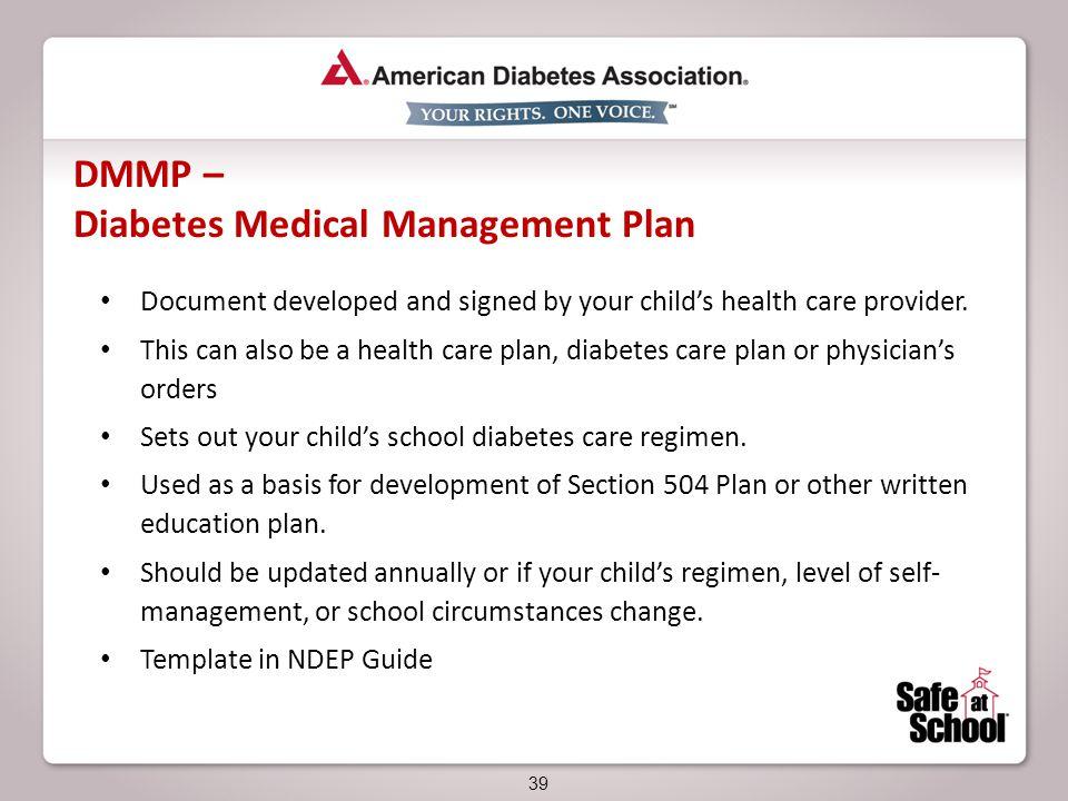 plan massachusetts 504 para diabetes