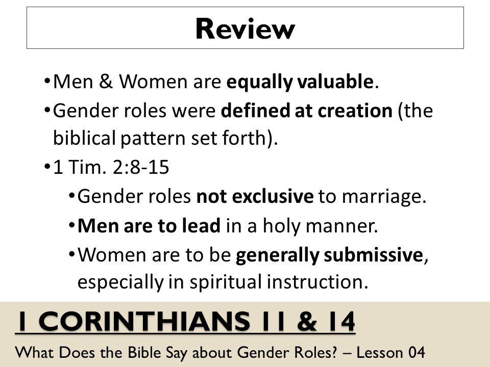 bible gender roles