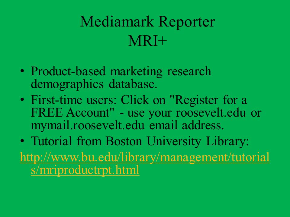 Roosevelt University Email >> Marketing Resources At Roosevelt University Library Ppt