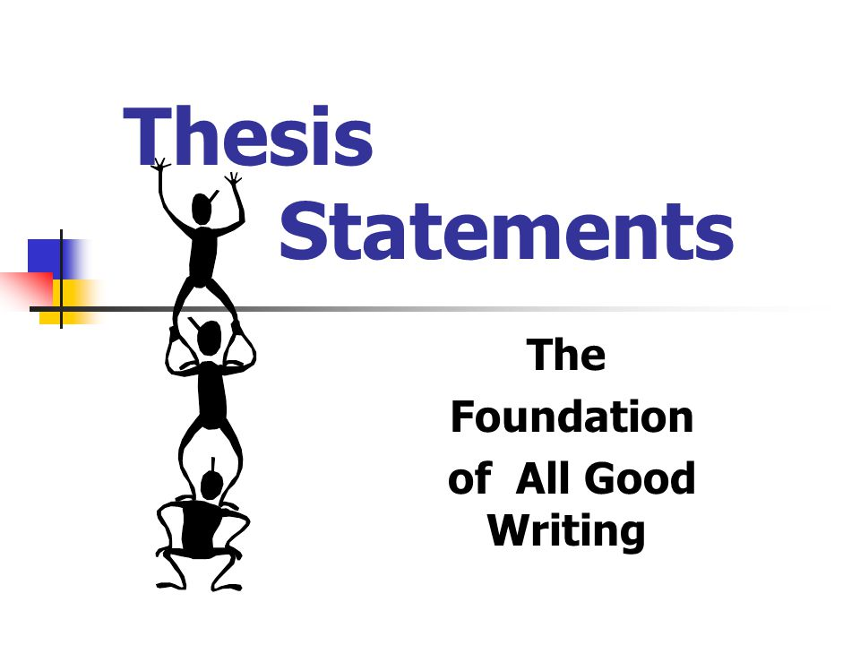 Thesis Statements The Foundation of All Good Writing