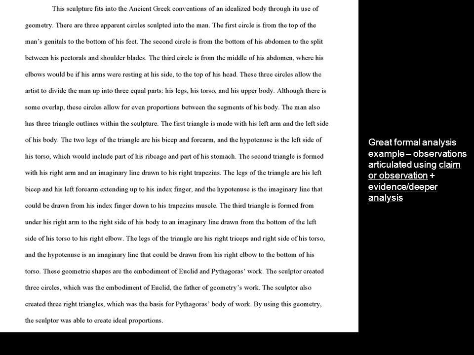 formal analysis art paper