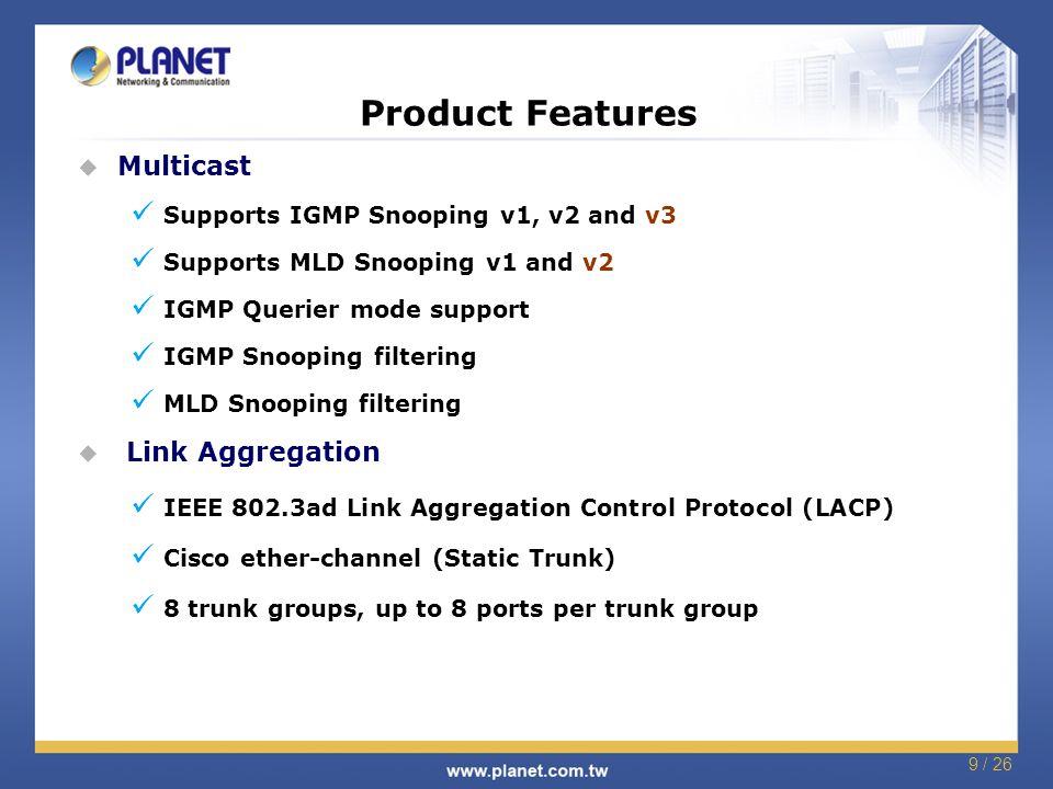 GSD-1002M 8-Port 10/100/1000Mbps + 2-Port 100/1000X SFP
