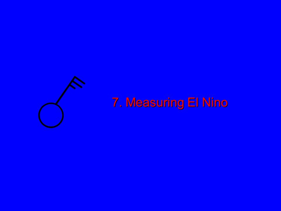 7. Measuring El Nino
