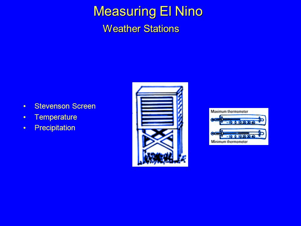Measuring El Nino Weather Stations Stevenson Screen Temperature Precipitation