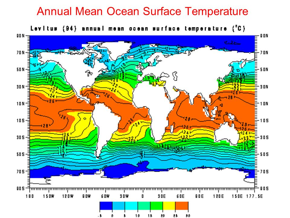 Annual Mean Ocean Surface Temperature