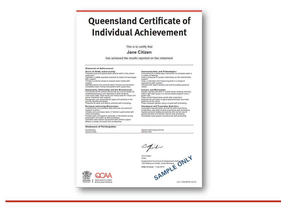 Preparing For Verification Queensland Certificate Of Individual